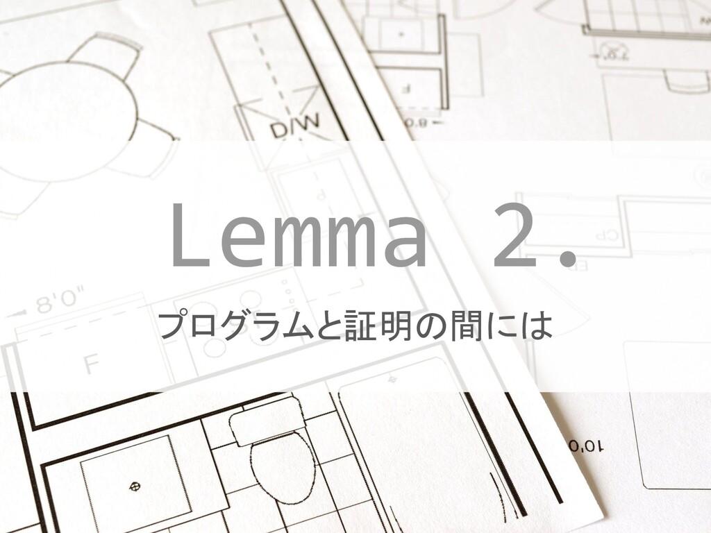 #JTF2019 #JTF2019_A プログラムと証明の間には Lemma 2.