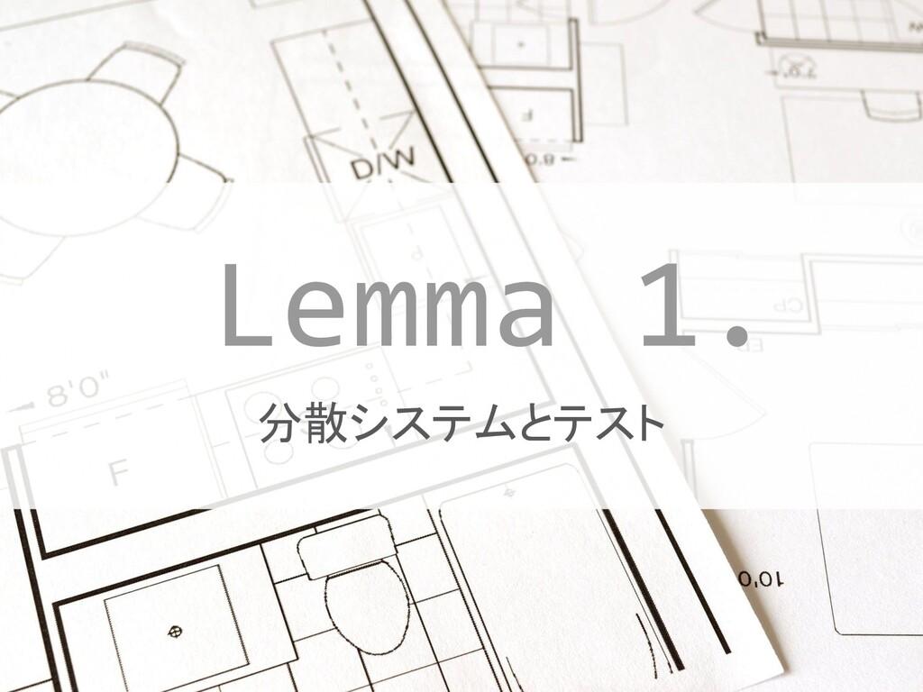 #JTF2019 #JTF2019_A 分散システムとテスト Lemma 1.
