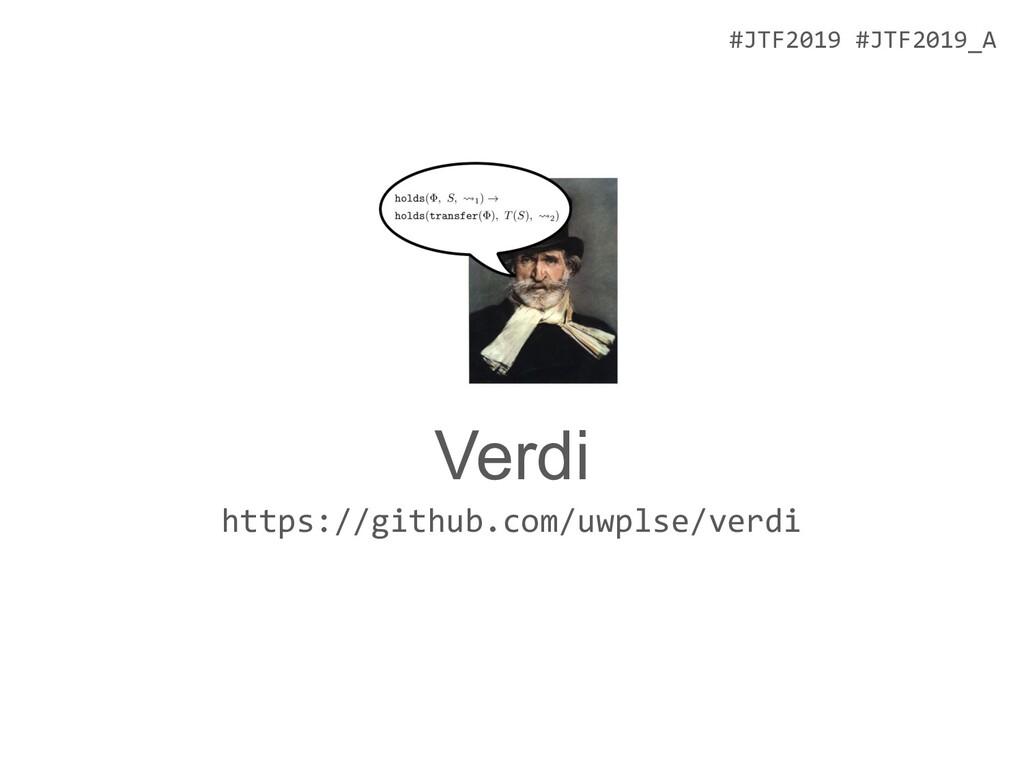 #JTF2019 #JTF2019_A Verdi https://github.com/uw...
