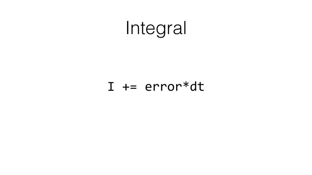Integral I += error*dt