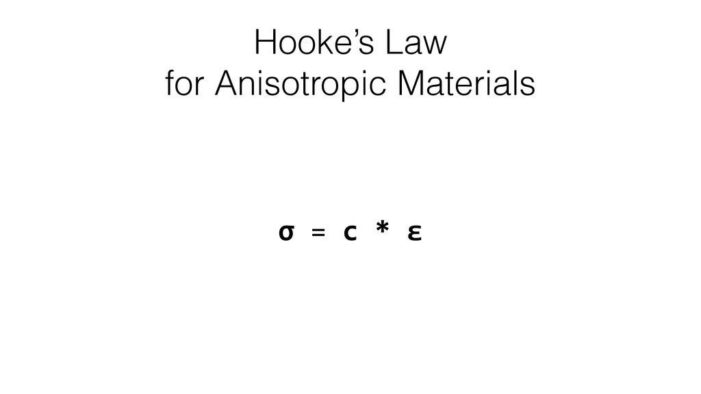 Hooke's Law for Anisotropic Materials σ	