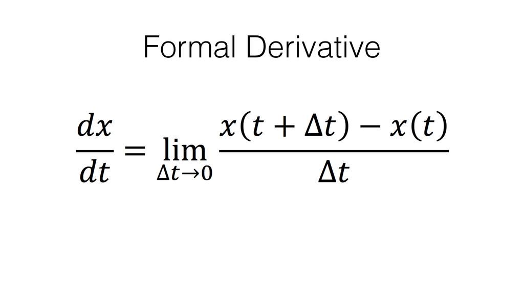 Formal Derivative