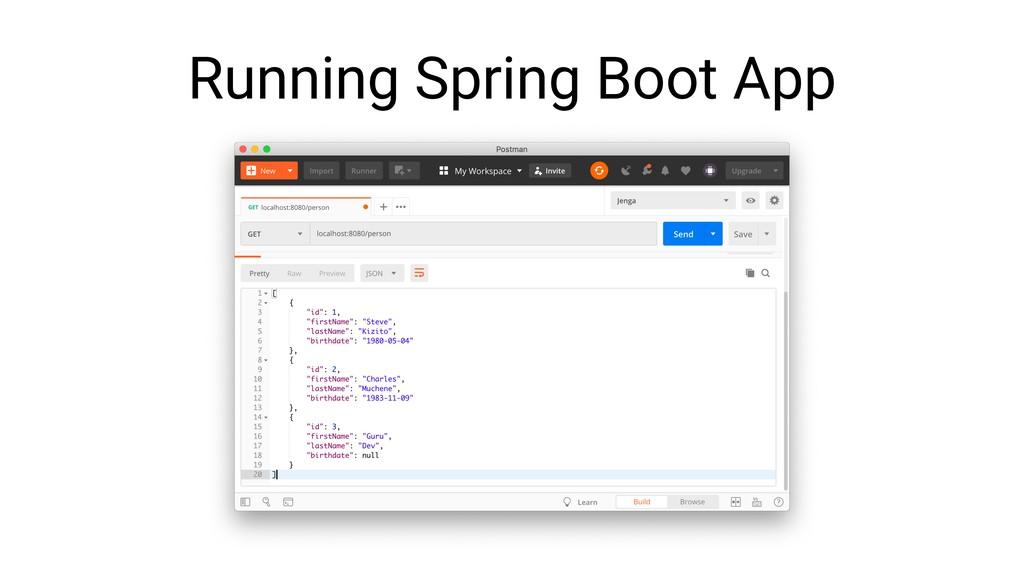 Running Spring Boot App