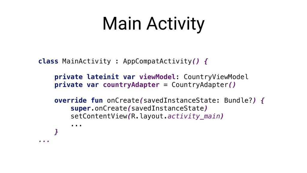 Main Activity class MainActivity : AppCompatAct...
