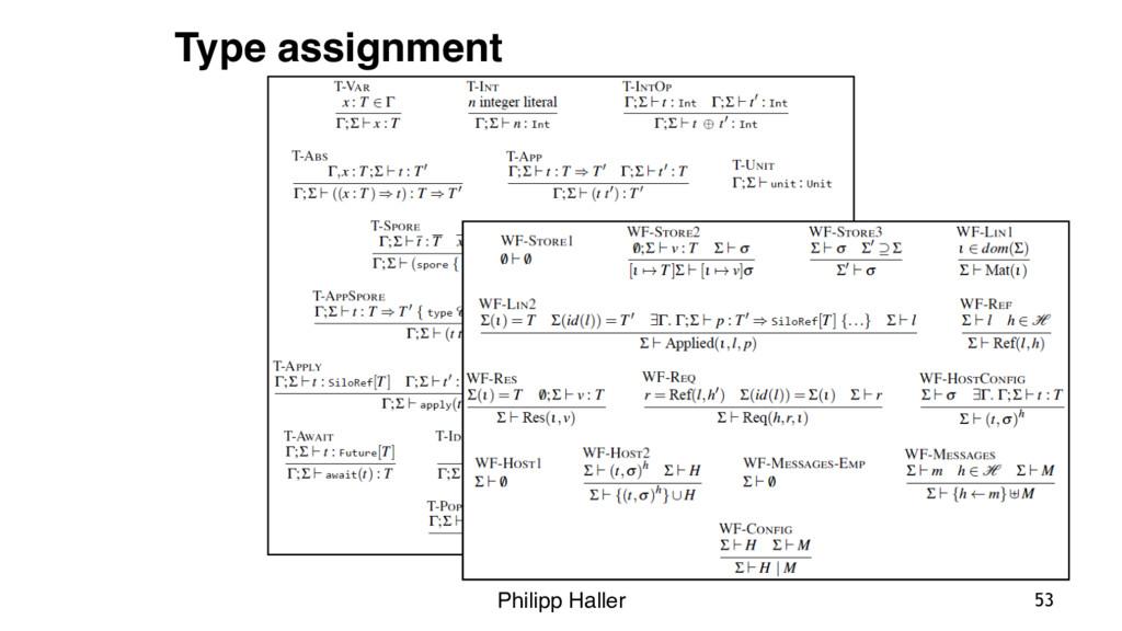 Philipp Haller 53 Type assignment