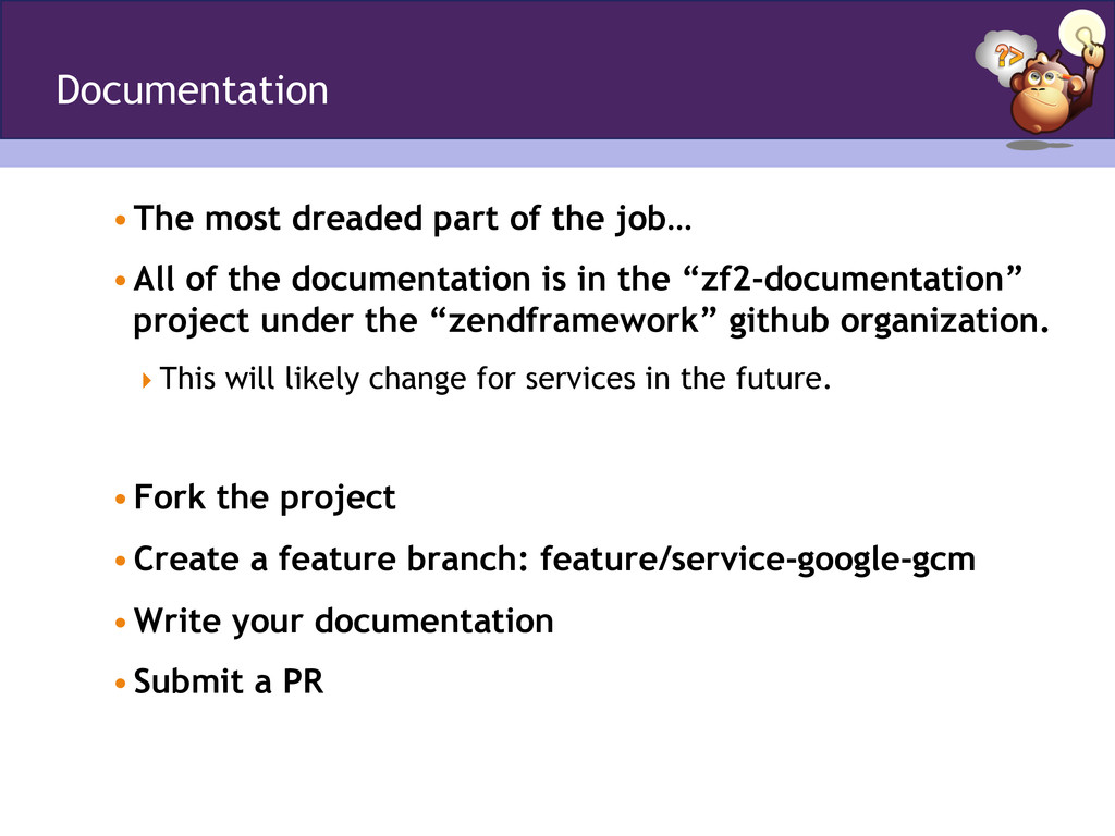 Documentation •The most dreaded part of the jo...