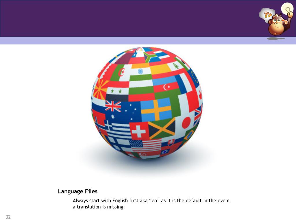 32 Language Files Always start with English fir...