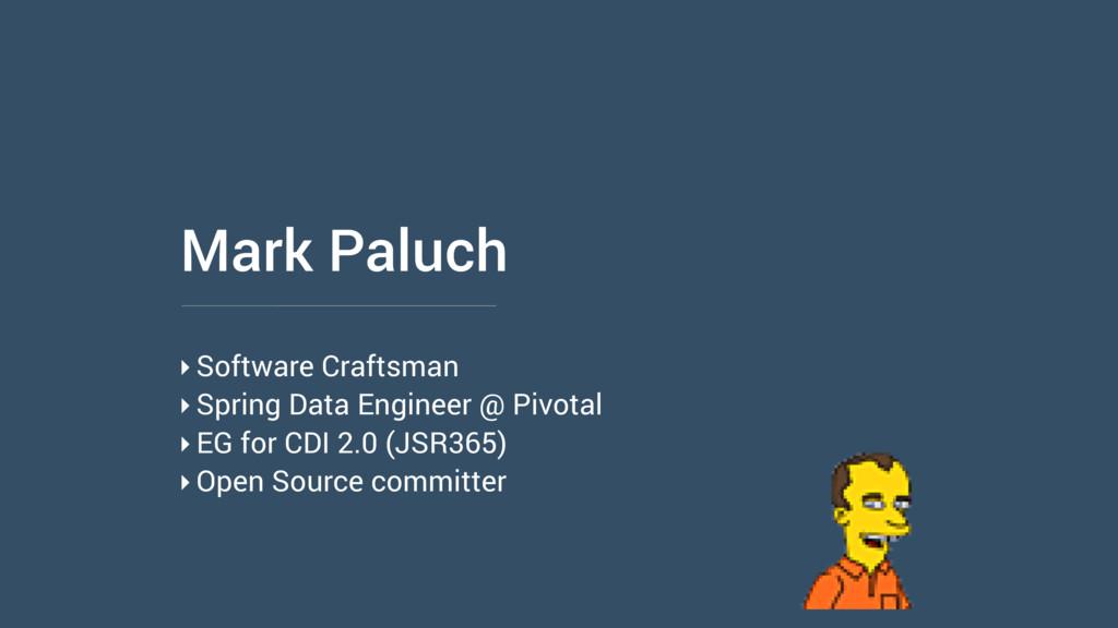 Mark Paluch ‣Software Craftsman ‣Spring Data En...