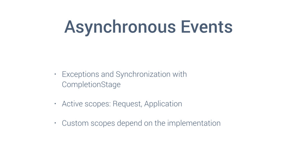 Asynchronous Events • Exceptions and Synchroniz...