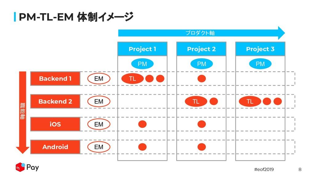 #eof2019 8 PM-TL-EM 体制イメージ Project 1 Project 2 ...
