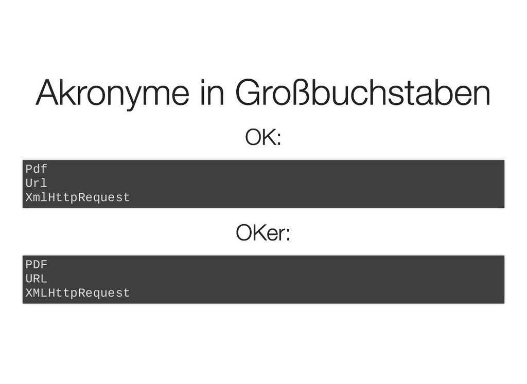Akronyme in Großbuchstaben Akronyme in Großbuch...