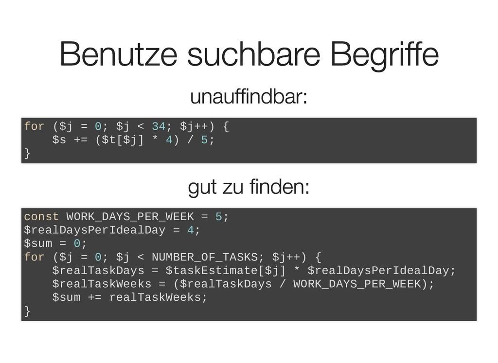 Benutze suchbare Begriffe Benutze suchbare Begr...