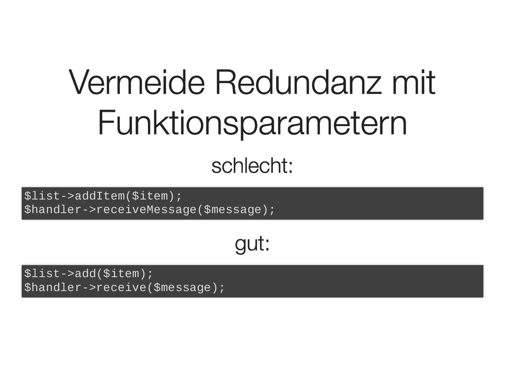 Vermeide Redundanz mit Vermeide Redundanz mit F...