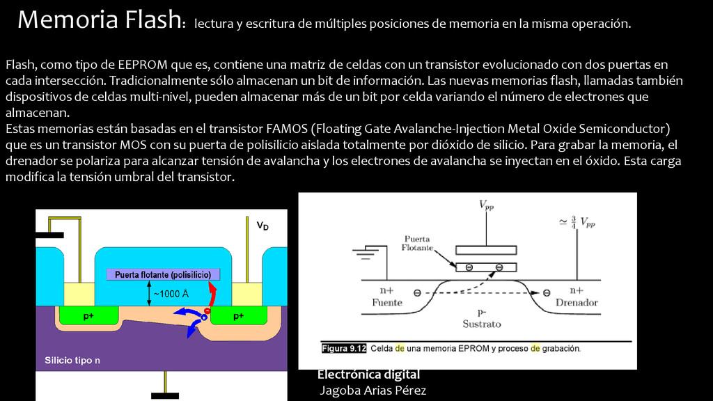 Memoria Flash: lectura y escritura de múltiples...