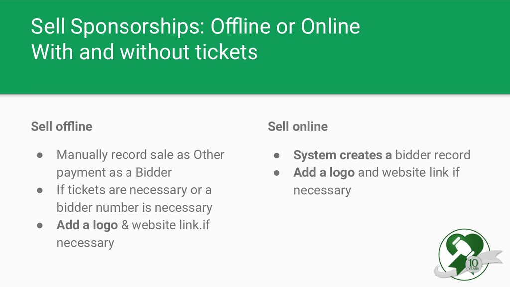 Sell Sponsorships: Offline or Online With and wit...