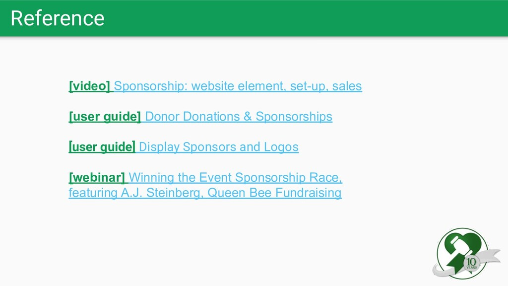 Reference [video] Sponsorship: website element,...