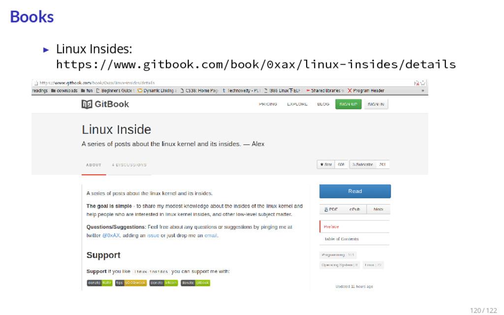 Books ▶ Linux Insides: https://www.gitbook.com/...
