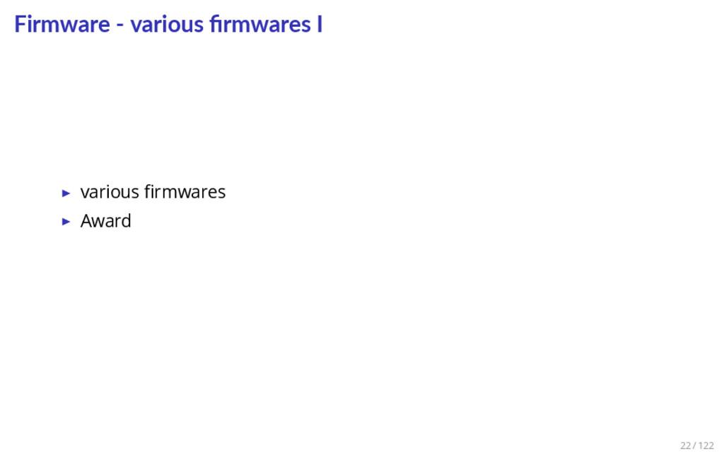Firmware - various firmwares I ▶ various firmware...