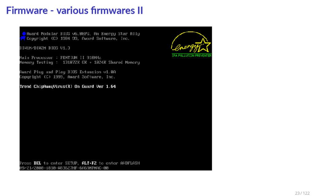 Firmware - various firmwares II 23 / 122