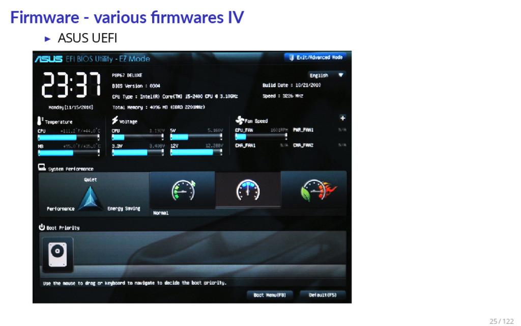 Firmware - various firmwares IV ▶ ASUS UEFI 25 /...