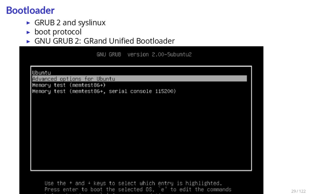 Bootloader ▶ GRUB 2 and syslinux ▶ boot protoco...