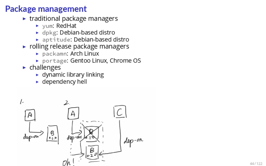 Package management ▶ traditional package manage...