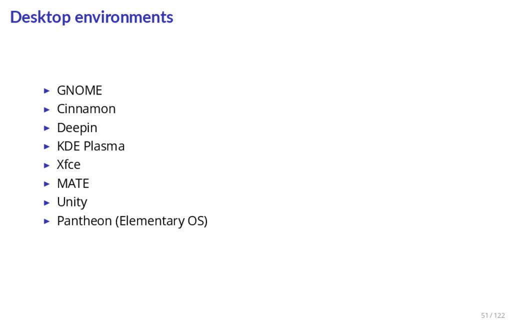 Desktop environments ▶ GNOME ▶ Cinnamon ▶ Deepi...