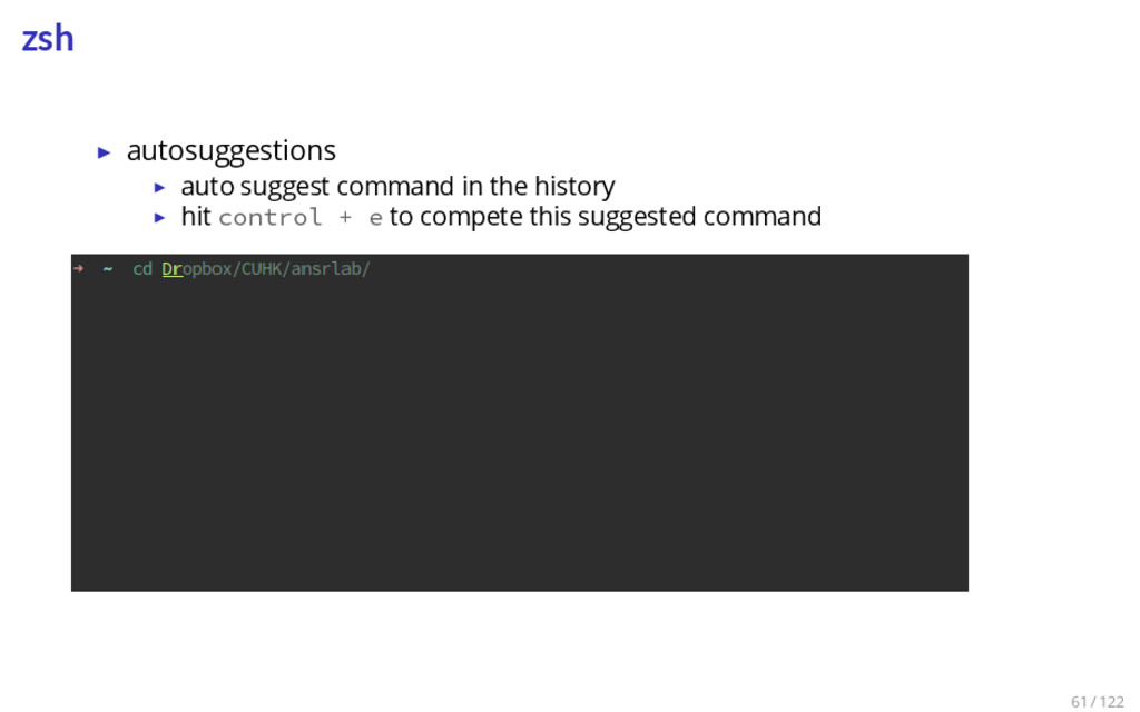 zsh ▶ autosuggestions ▶ auto suggest command in...