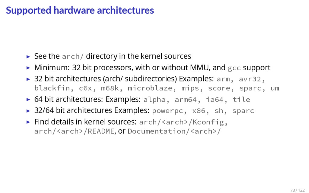 Supported hardware architectures ▶ See the arch...