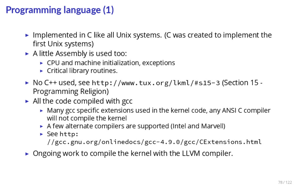 Programming language (1) ▶ Implemented in C lik...