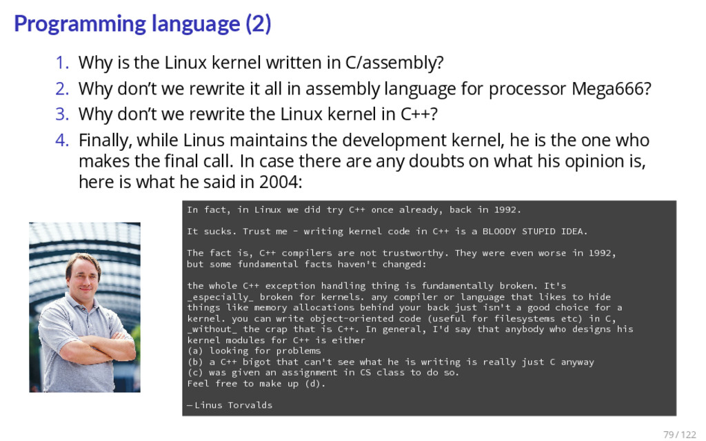 Programming language (2) 1. Why is the Linux ke...