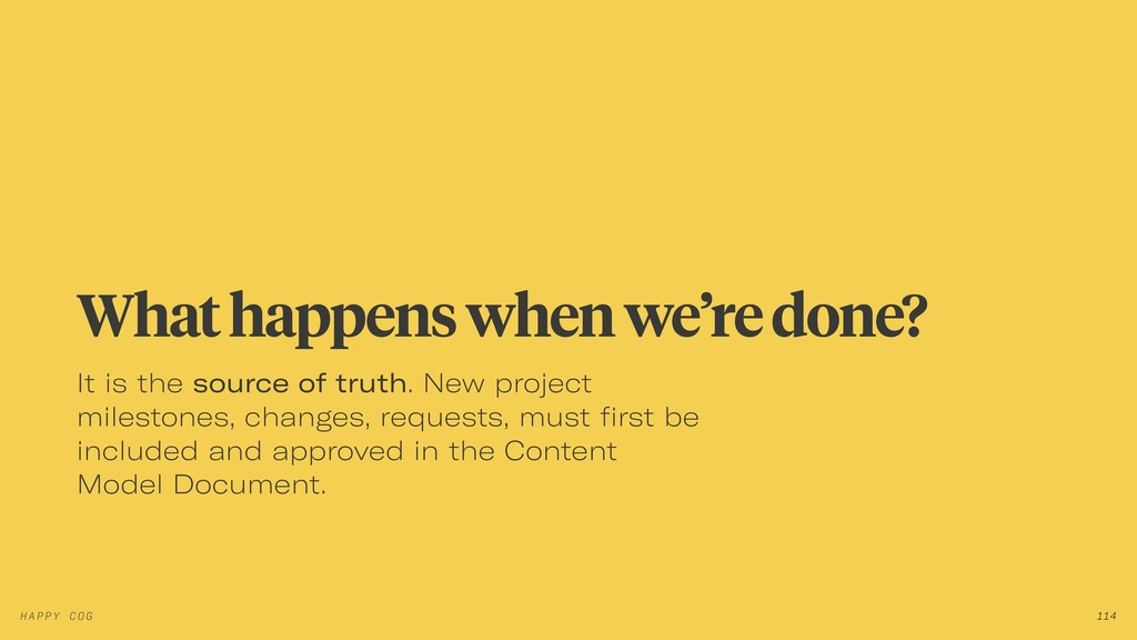 It is the source of truth. New project mileston...