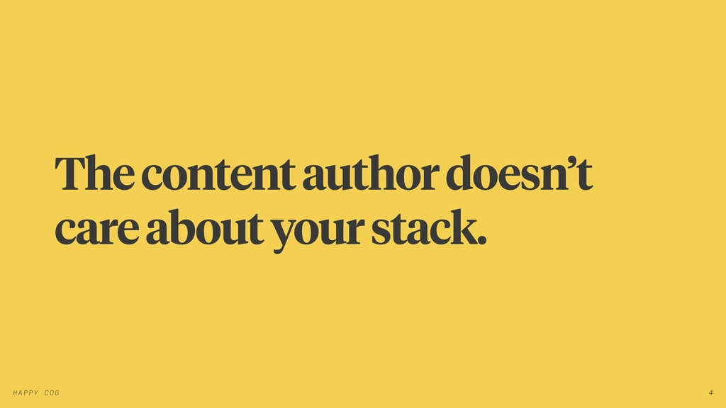 The content author doesn't care about your stac...
