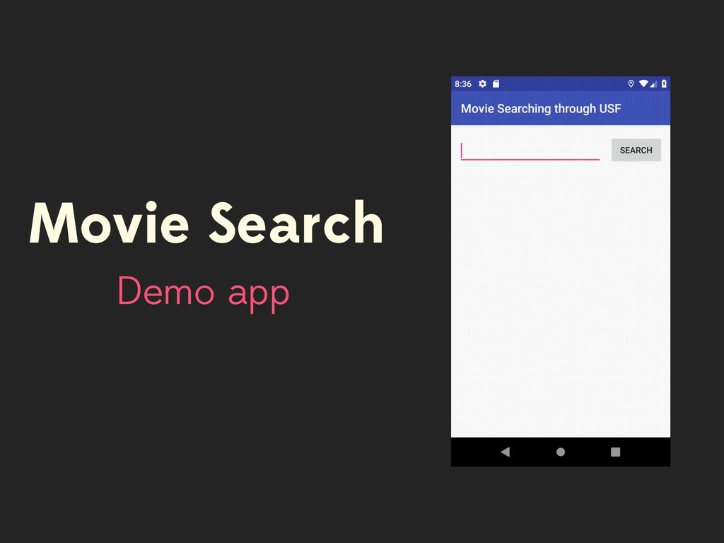 Movie Search Demo app
