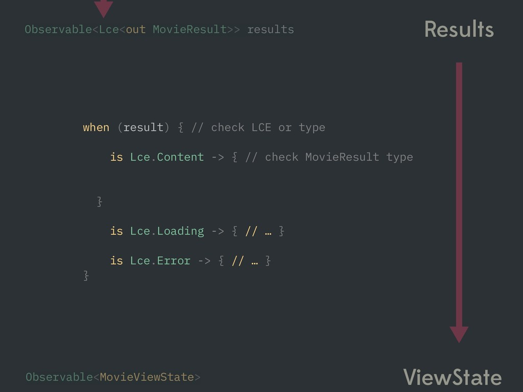 when (result) { // check LCE or type is Lce.Con...