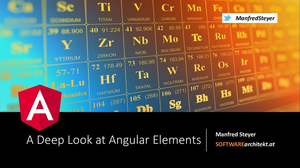 @ManfredSteyer A Deep Look at Angular Elements ...