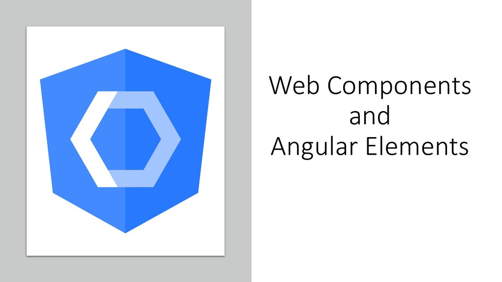 @ManfredSteyer Web Components and Angular Eleme...