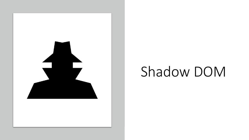 @ManfredSteyer Shadow DOM