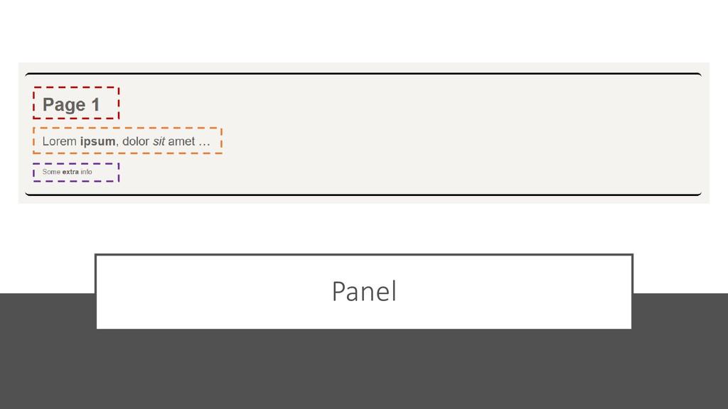 @ManfredSteyer Panel