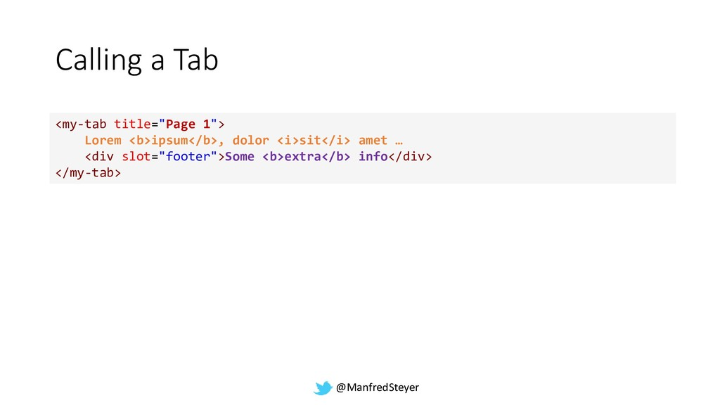 "@ManfredSteyer Calling a Tab <my-tab title=""Pag..."