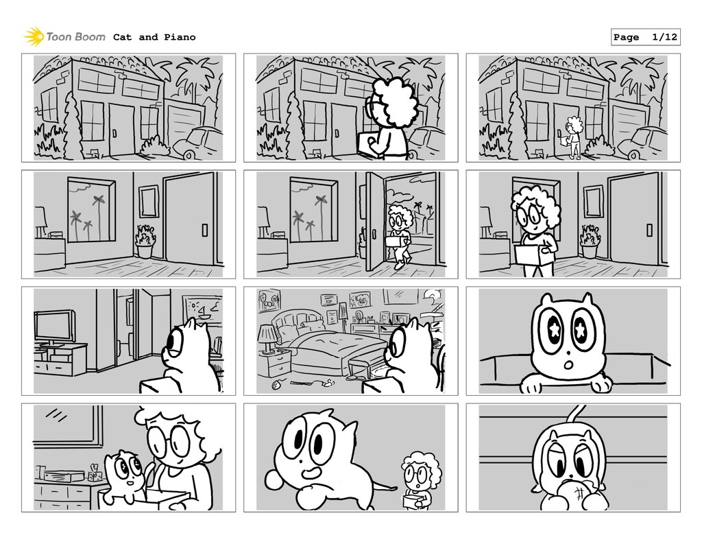 Cat and Piano Page 1/12