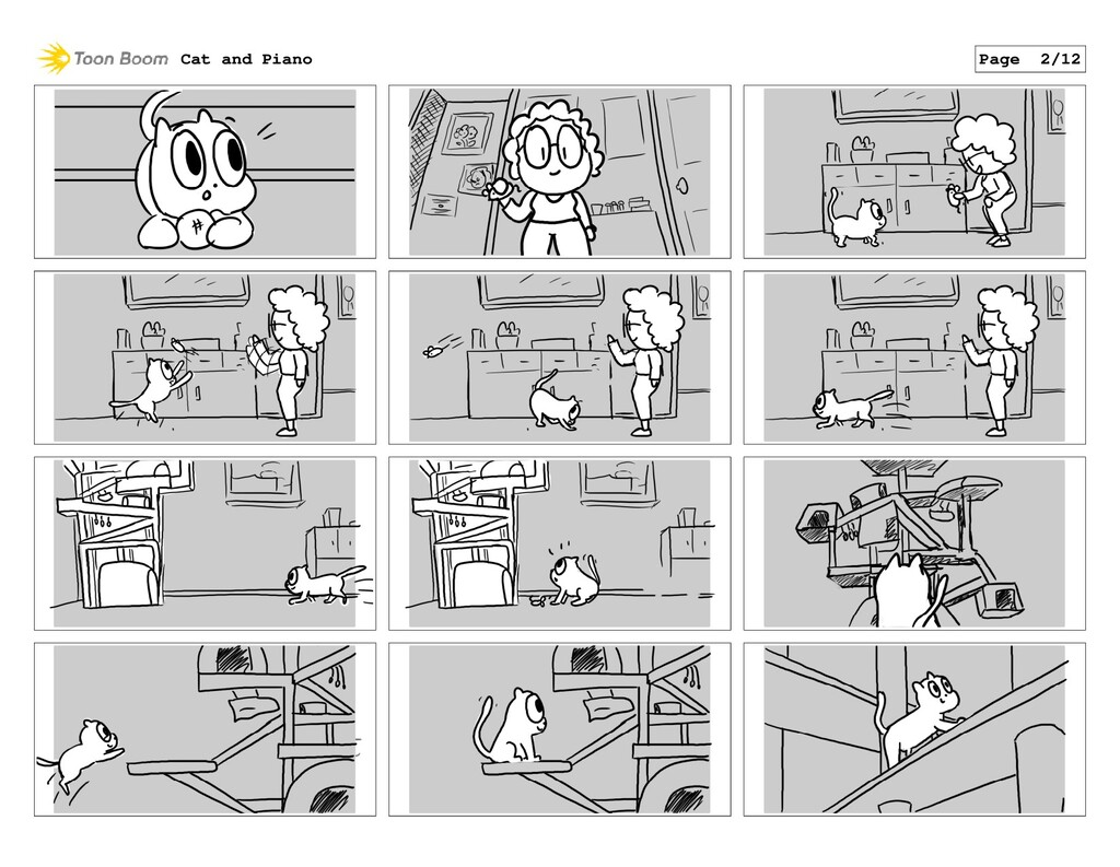 Cat and Piano Page 2/12