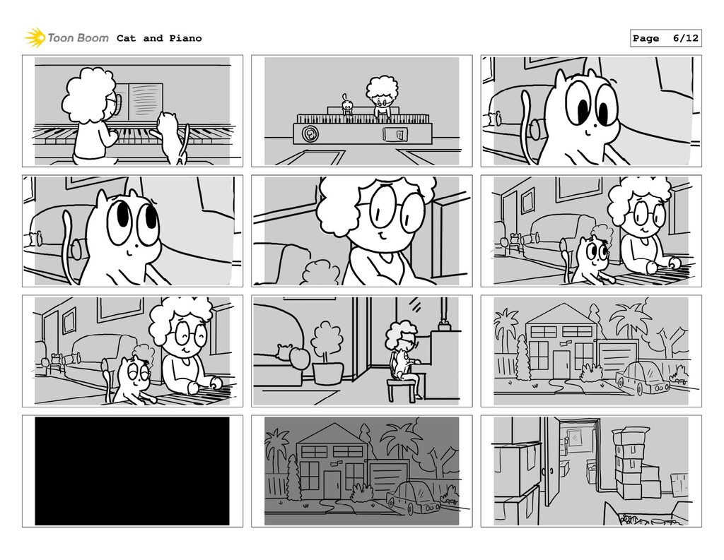 Cat and Piano Page 6/12