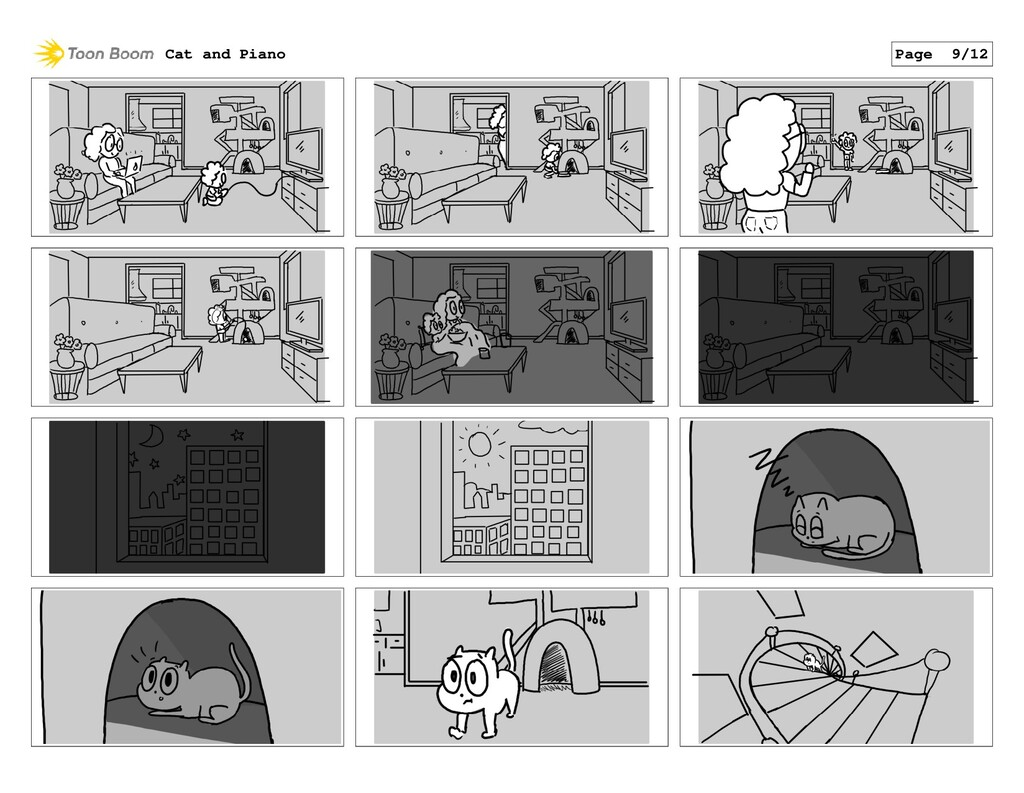 Cat and Piano Page 9/12