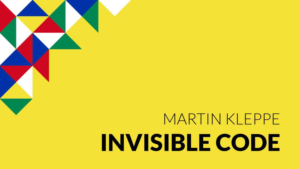 MARTIN KLEPPE INVISIBLE CODE