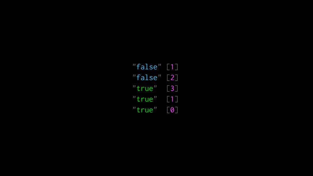 """""""false"""" [1] """"false"""" [2] """"true"""" [3] """"true"""" [1] """"..."""