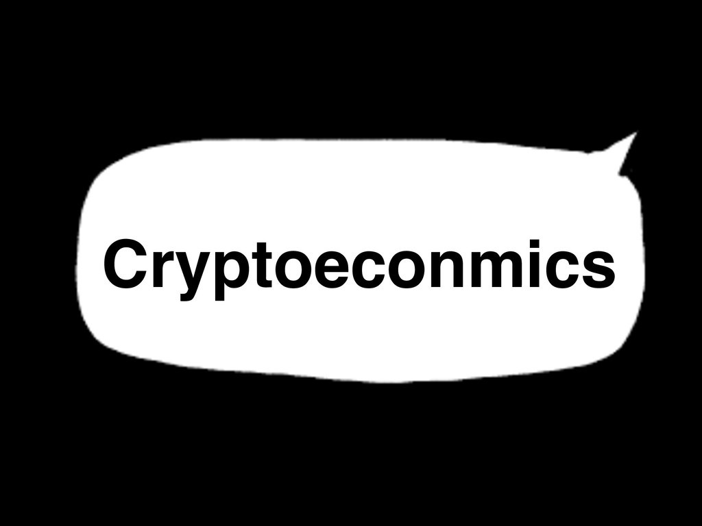 Cryptoeconmics