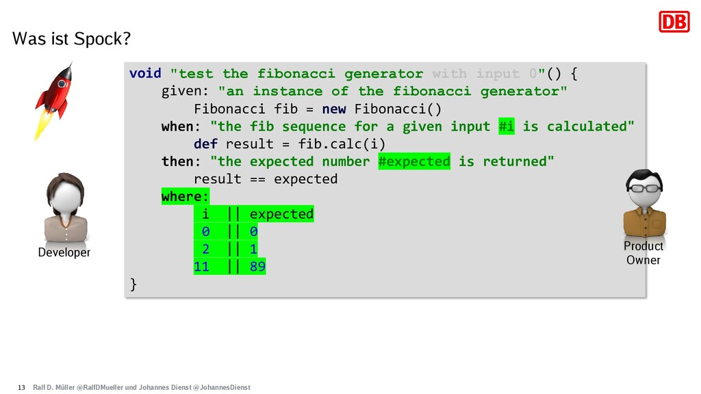 "Was ist Spock? 13 void ""test the fibonacci gene..."