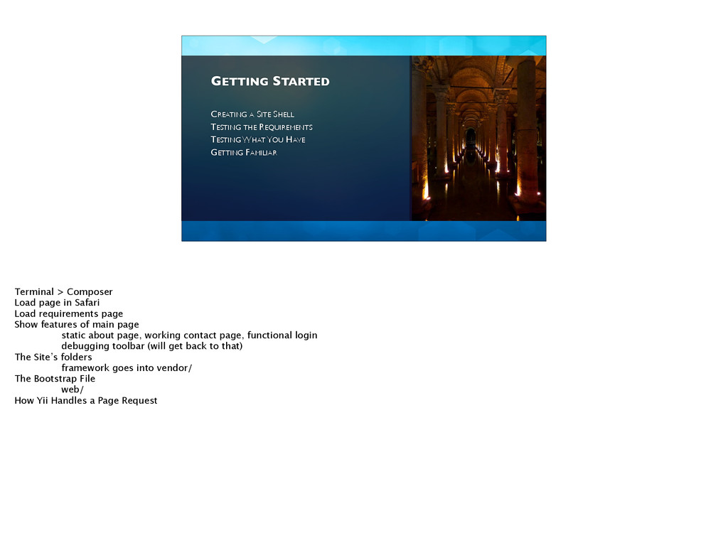 GETTING STARTED CREATING A SITE SHELL  TESTI...