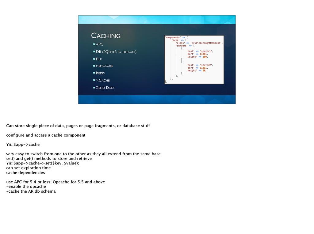 CACHING APC  DB (SQLITE3 BY DEFAULT)  FILE...